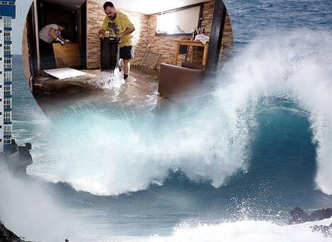 Huge waves hit Tenerife in Canary Islands